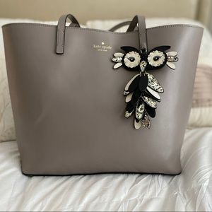 Kate Spade Owl Little Len Tote Star Bright Grey